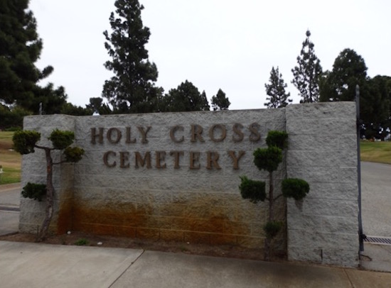 Holy Cross Cemetery, Culver City entrance