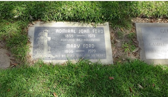 John Ford grave at Holy Cross Cemetery