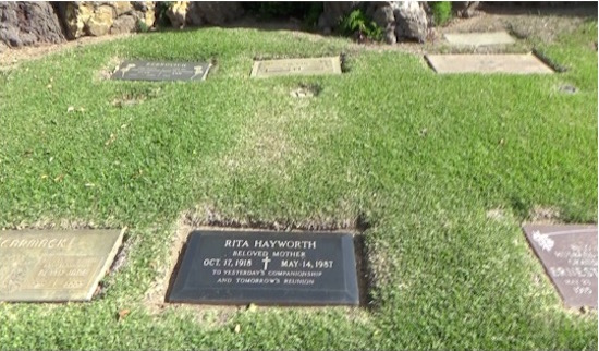 Rita Hayworth grave at Holy Cross Cemetery