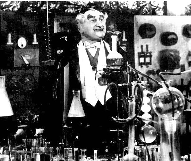 "Grandpa mixes a love potion on ""The Munsters"" TV show"